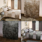 Amalfi Luxury Crushed Velvet Bed Quilt Runner - Silver Gray or Natural