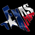 Texas Shape Outlined Decal with TEXAS cut out