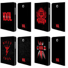 OFFICIAL BILLY IDOL LOGO LEATHER BOOK WALLET CASE FOR SAMSUNG GALAXY TABLETS