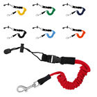 "55"" Elastic Coiled Cord Lanyard SUP Leash for Kayak Canoe Paddle Fishing Rod"