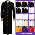 MENZ Clergy Preacher Robe w/ Colored Piping Full Length