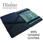 Wallet - Mens Magic Flip Wallet by Distino - 100% Genuine Men's Leather Slim