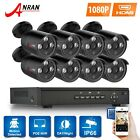 ANRAN 8CH/4CH NVR IP POE Home CCTV Security System 2.0MP 1080P Outdoor HD Camera