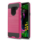 for LG G8 ThinQ / LG G7 ThinQ, [Protech Series] Phone Case Cover +Tempered Glass