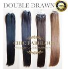 """DOUBLE DRAWN 0.5g or 1g EASY MICRO RING LOOP HUMAN HAIR EXTENSIONS 16""""-24"""""""