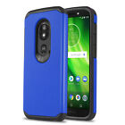 for MOTOROLA MOTO E5 (XT1920), [DuoTEK Series] Phone Case Cover +Tempered Glass