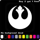 REBEL ALLIANCE STAR WARS LOGO STICKER VINYL DECAL CAR WINDOW JEDI Buy2Get1Free $2.29 USD