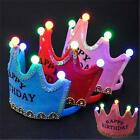 Prince Princess Crown Birthday Party LED Light up Hats Cap Tiara for Kids Baby 1