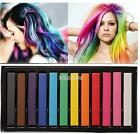 1,6,12 or 24 HAIR CHALK TEMPORARY HAIR DYE COLOUR SOFT PASTELS SALON KIT!!.