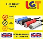 9 ULTRA BRIGHT LED POWERFUL SMALL CAMPING TORCH FLASH LIGHT LAMP LIGHTS MINI!-