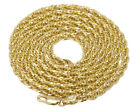 New Real 10K Yellow Gold 3.5MM Hollow Tuscany Rope Chain Necklace 22-26 Inches