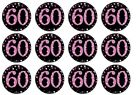 60th Birthday Female Fairy / Cup Cake Toppers  Rice Paper or Icing