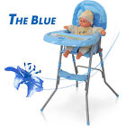 Adjustable Baby High Chair Infant Toddler Feeding Booster Seat Folding seat USA