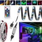 1-5M USB LED STRIP LIGHTS TV BACK LIGHT RGB COLOUR CHANGING + REMOTE CONTROL