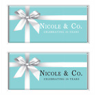 5x Tiffany & Co. Personalised Chocolate Bar Wrapper Party Favor inc 40g choc