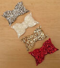 PARTY SPARKLE CHUNKY GLITTER BLING SMALL BOUTIQUE HAIR BOW BOWS CLIP SLIDE GRIP