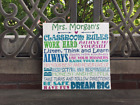Colorful Classroom Rules Canvas, PERSONALIZE, Pefect Teac...