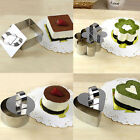 8 Shape New Stainless Steel Mousse Cake Ring Mold Layer Slicer Cook Bake Cutter
