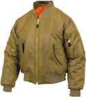 Coyote Brown Military Air Force MA-1 Reversible Bomber Coat Flight Jacket
