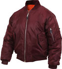 Maroon Military Air Force MA-1 Reversible Bomber Coat Flight Jacket