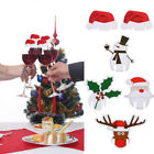5 Style 10pcs/Lot Champagne Wine Glass Cup Xmas Hat/Santa Christmas Party Decor
