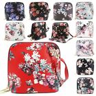 New Floral Print All Over Faux Leather Ladies Small Crossbody Bag