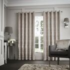 Luxury Curtina Downton Velvet Heavy Weight Lined Eyelet Curtains Mink