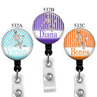 Ortho Tech Badge Reel, Skeleton Name Badge Holder, 3 Colors to Choose From,532A