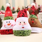 Christmas Hat cotton Blue and whiteUnisex Adult Xmas Red Cap Santa Novelty Hat J