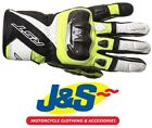 RST Stunt III CE 2123 Short Leather Gloves Flo Yellow Motorcycle ONLY £29.99!J&S