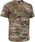 OCP Multicam Camo T-Shirt Military Tee Army Short Sleeve Cotton Crew Neck