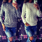 Ladies Long Sleeve Loose Sweater Knitted Cardigan Coat Jacket Outwear Casual New