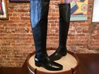H by Halston Black Leather Karlie Over the Knee OTK Boots New