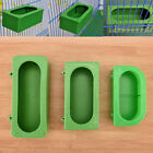 Plastic Green Food Water Bowl Cups Parrot Bird Pigeons Cage Cup Feeding Feeder D