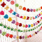 Hanging Paper 3D Heart Garland Birthday Party Wedding Ceiling Banner Decor Hot.