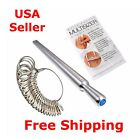 Silver Ring Sizer Finger Sizing Measuring Stick Metal Ring Mandrel US Size Gauge