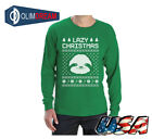 Big White Sloth Face Lazy Ugly Christmas Sweater Funny Long Sleeve T-Shirt Gift
