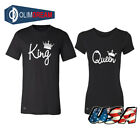 Valentine's Day couple matching King and Queen T shirt Tank Top Cupid love tee