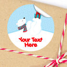 1x A4 Sheet Personalised Christmas gifts presents Stickers Labels Polar bear 2
