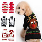 Pet Christmas Sweater Striped Dog Clothes Puppy Sweater Dogs & Cats Clothing New