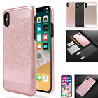 Luxury iPhone X Phone Case Bling Glitter Sparkle Shockproof Back Cover For Apple