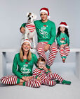 Newest Family Matching Christmas Pajamas Set Women Baby Kids Sleepwear Nightwear