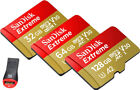 SanDisk Extreme A1 100MB/s 128GB 64GB 32GB micro SD SDHC SDXC Card Lot Class10