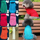 Dog Cat Pet Winter Clothes Warm Sweater Knitwear Puppy Outwear Jacket Apparel