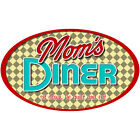 Moms Diner Sit Down Funny Wall Decal Removable Kitchen Wall Decor