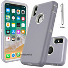 For Apple iPhone XS X Case Cover Protective Hybrid Rugged Shockproof Rubber Hard