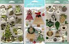 U CHOOSE Jolee's Stickers HOLIDAY ORNAMENTS - CHRISTMAS GIFTS - WORD TREES Santa