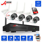 ANRAN 4CH 720P HDMI WiFi NVR Wireless Home Security Camera System 1TB+Audio Cam