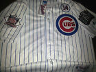 NEW WHITE CHICAGO CUBS #44 ANTHONY RIZZO WS DUAL PATCH stitched Majestic Jersey