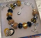NHL BOSTON BRUINS Crystal Team European Charm Bracelet    FREE SHIPPING!!! $35.9 USD on eBay